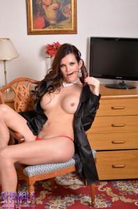 half-naked feminine transsexual